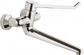 Ideal Standard CeraPlus Sicherheitsarmaturen - Wand-Waschtischsicherheitsarmatur (Auslauf 250 mm nicht absperrbare S-Anschlüsse Bedienhebel 230 mm)