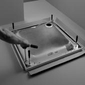 Bette Zubehör - Fußsystem 3034 für die Duschwanne 900 x 750 mm