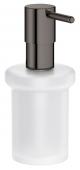 Grohe Essentials - Seifenspender für Halter / -Cube hard graphite