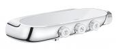 Grohe Grohtherm SmartControl - Thermostatbatterie mit 3 Absperrventilen chrom / moon white