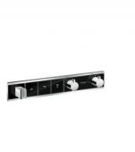 Hansgrohe RainSelect - Thermostat Unterputz Fertigset 3 Verbraucher schwarz / chrom