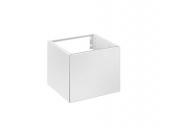 Keuco Edition 11 - Waschtischunterbau Gäste WC 31198, Türanschlag links, weiß/Glas weiß