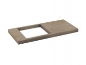 Keuco Edition 11 - Waschtisch-Platte eiche Platin Massivholz 700 - 900 mm
