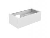 Keuco Edition 11 - Waschtischunterbau 31253, 1 Frontauszug weiß Hochglanz/weiß Hochglanz