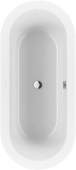 Villeroy & Boch Loop & Friends - Badewanne 1800 x 800 mm weiß alpin Duo mit ovaler