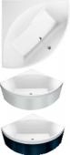 Villeroy & Boch Squaro - Badewanne Eck 1450 x 1450 mm weiß alpin