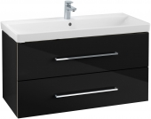 Villeroy & Boch Avento - Waschtischunterschrank 967 x 520 x 447 mm crystal black