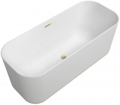 Villeroy & Boch Finion - Badewanne CoD Ventil ÜL Design-Ring Emotion-Funktion champagne white alpin