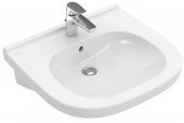 Villeroy & Boch O.novo - Waschtisch Vita 560 x 550 mm mit Überlauf weiß alpin C+