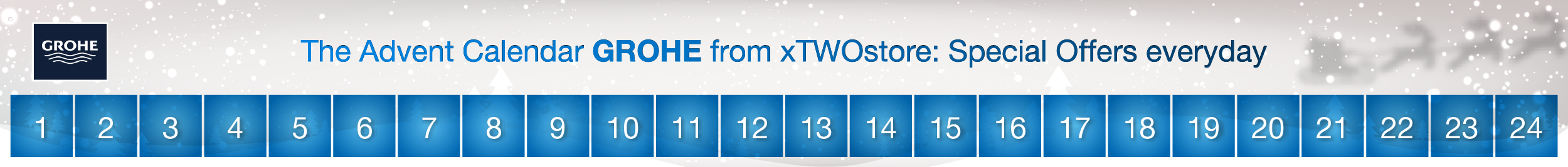GROHE Advent Calendar at xTWOstore