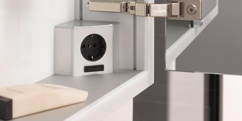 Emco Prime Spiegelschrank Steckdose und Schalter
