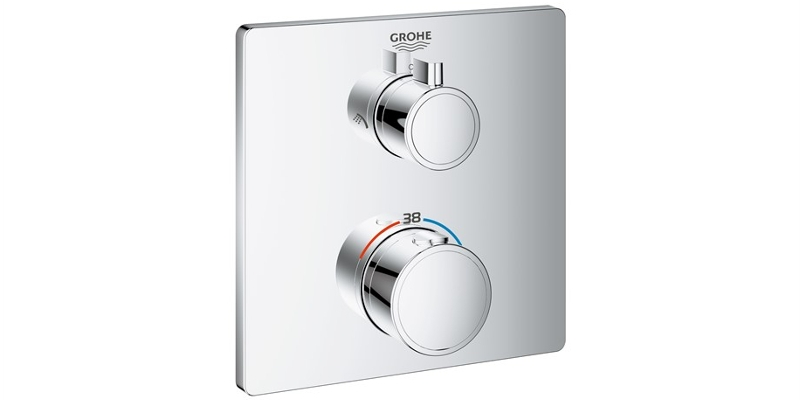 GROHE Thermostat Grohtherm eckig