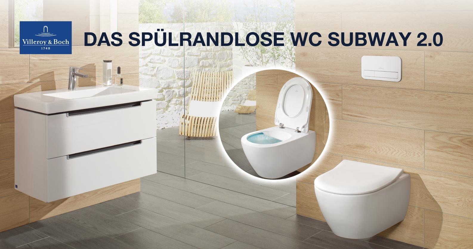 Das spülrandlose WC Subway 2.0 von Villeroy & Boch
