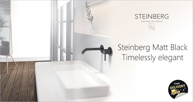 Steinberg black faucets