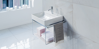 Duravit DuraSquare Wall-Mounted Metal Console at xTWOstore