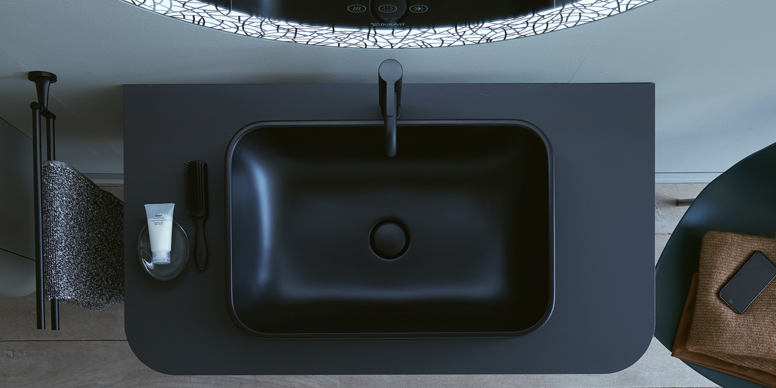 Duravit Happy D.2 Plus Countertop Basin Anthracite at xTWOstore