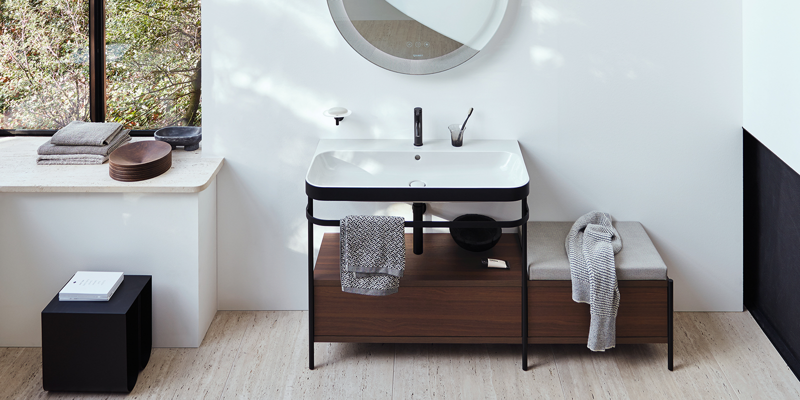 Duravit Happy D.2 Plus Bathroom Furniture and Mirrors at xTWOstore