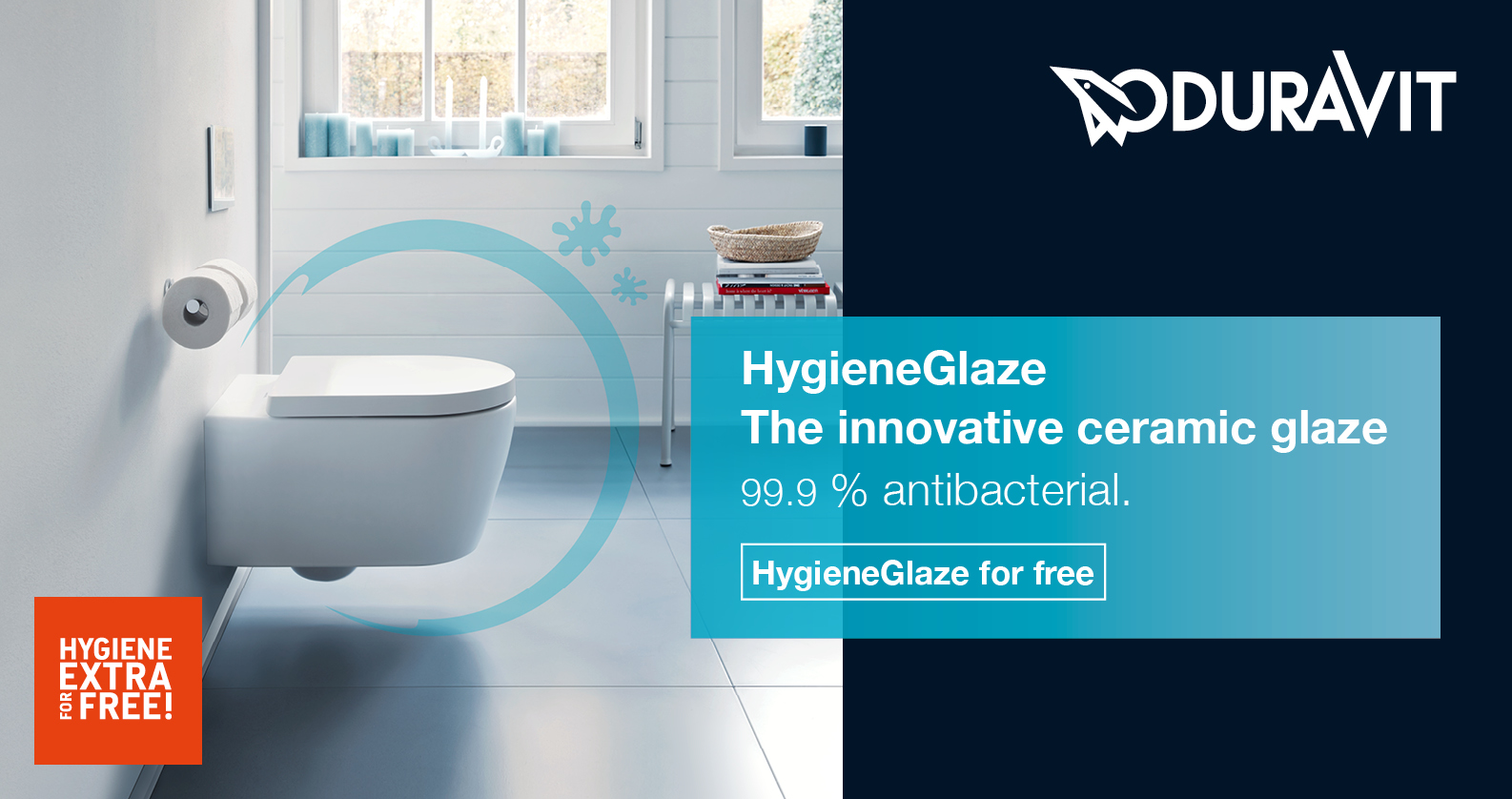 Get Duravit HygieneGlaze for free at xTWOstore