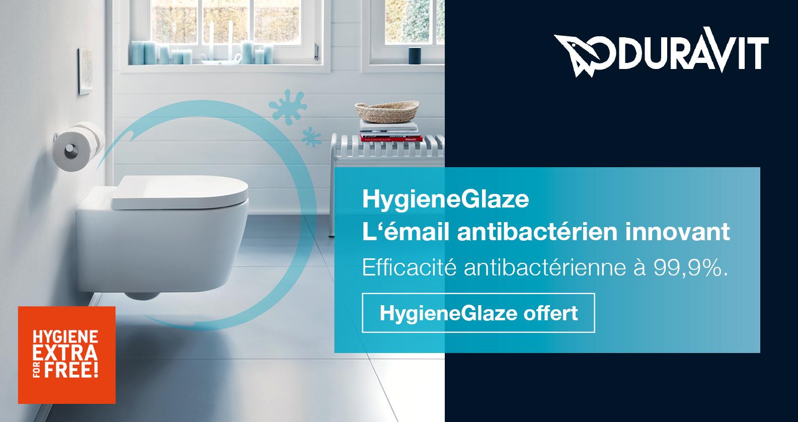 Duravit HygieneGlaze gratuit chez xTWOstore