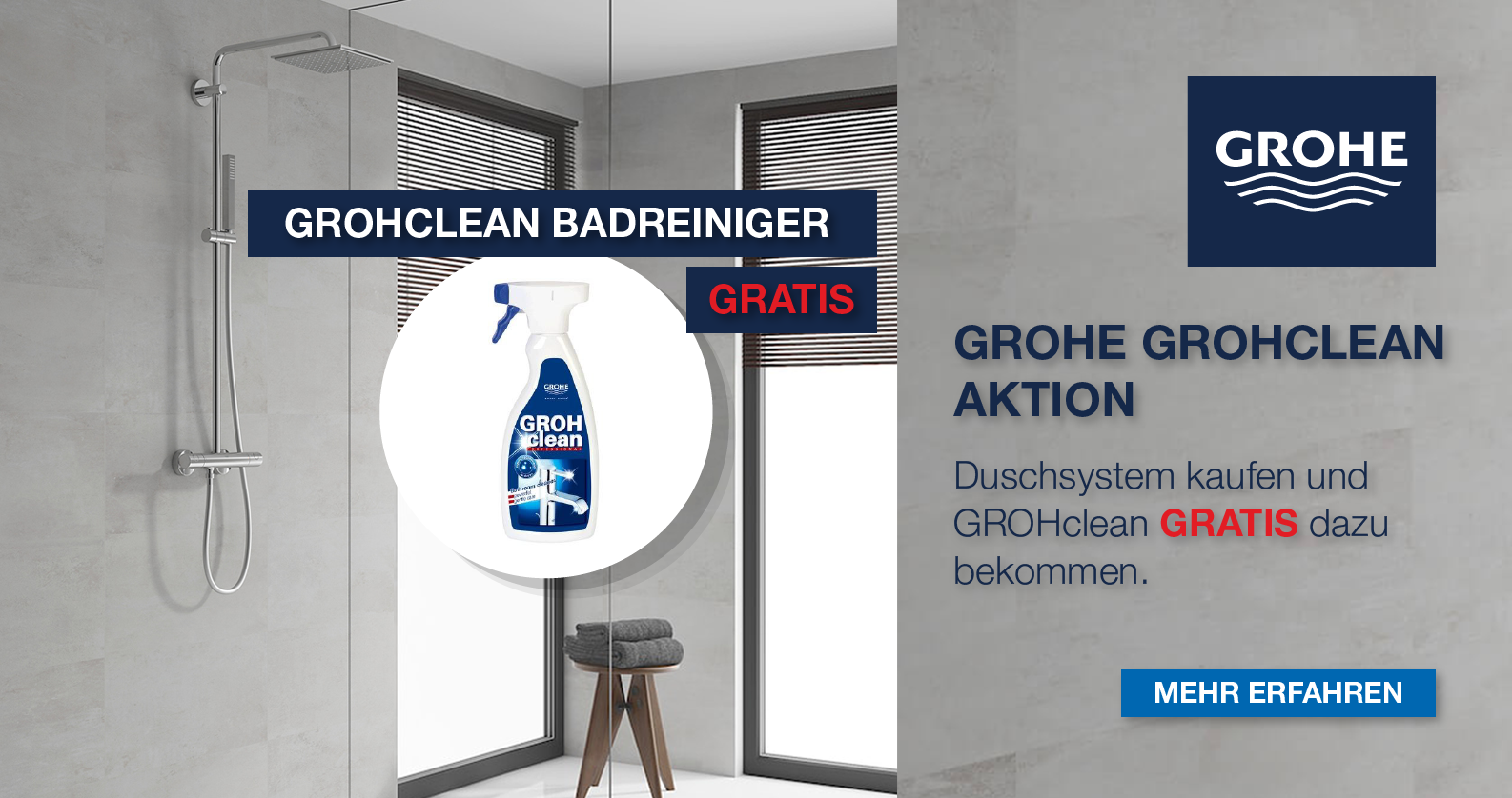 GROHE GROHclean Aktion bei xTWOstore