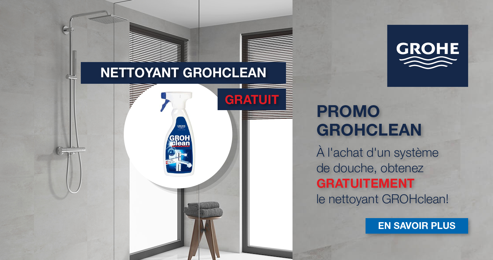 Promo GROHE GROHclean chez xTWOstore