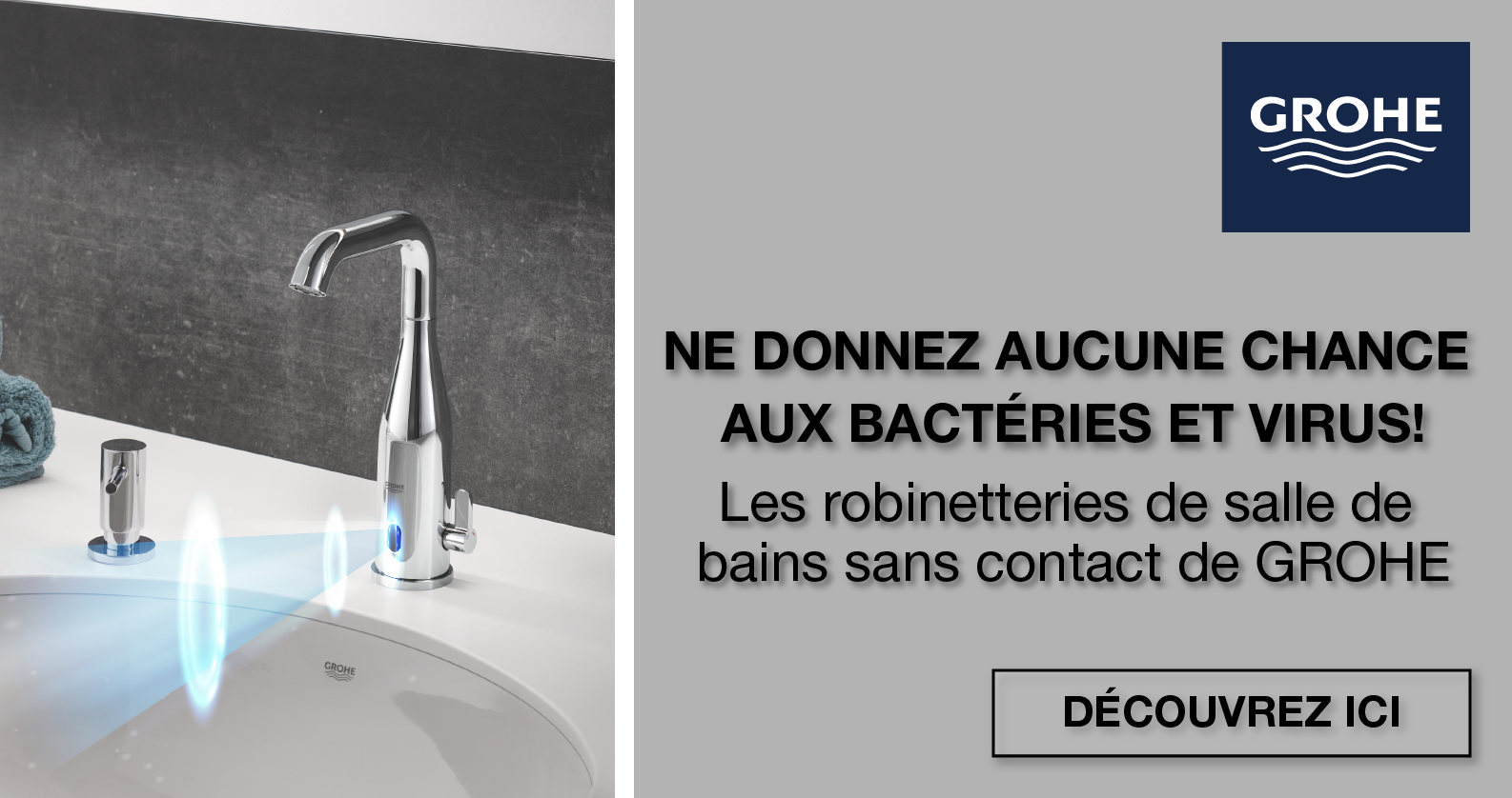 GROHE Robinetteries sans contact chez xTWOstore