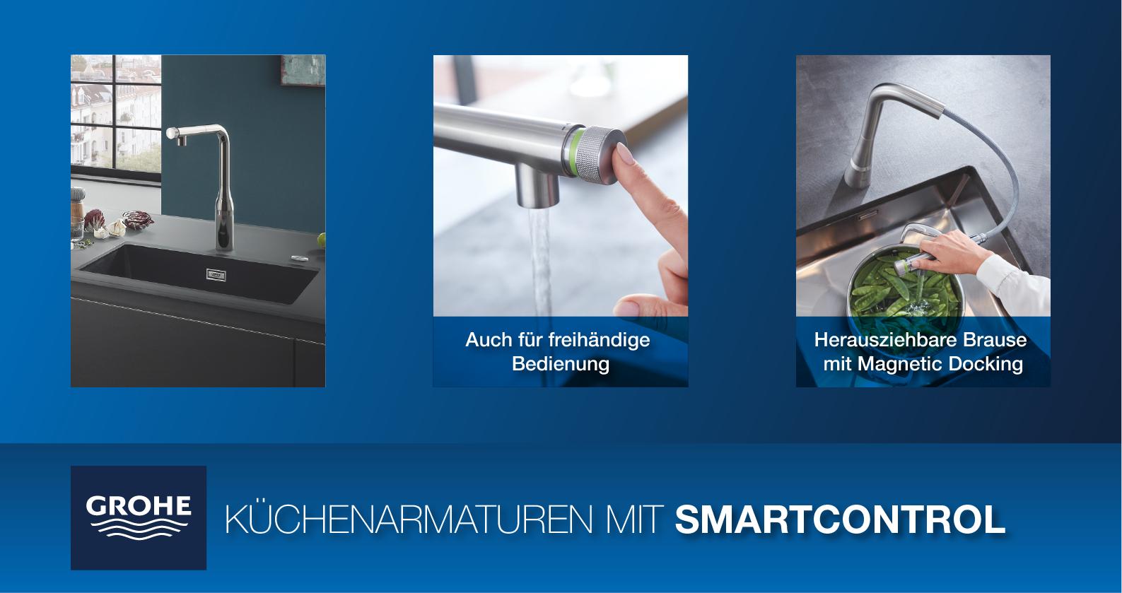GROHE Küchenarmaturen mit SmartControl