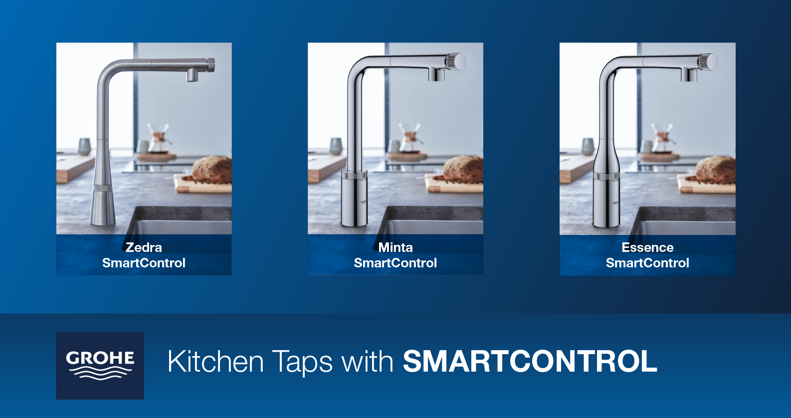 GROHE Kitchen Taps with SmartControl