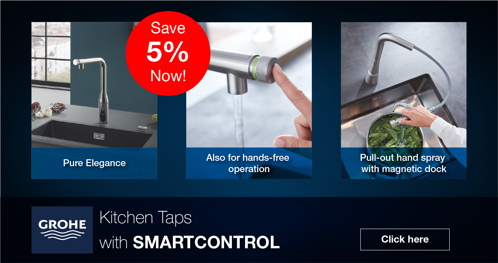 GROHE Kitchen Taps with SmartControl at xTWOstore