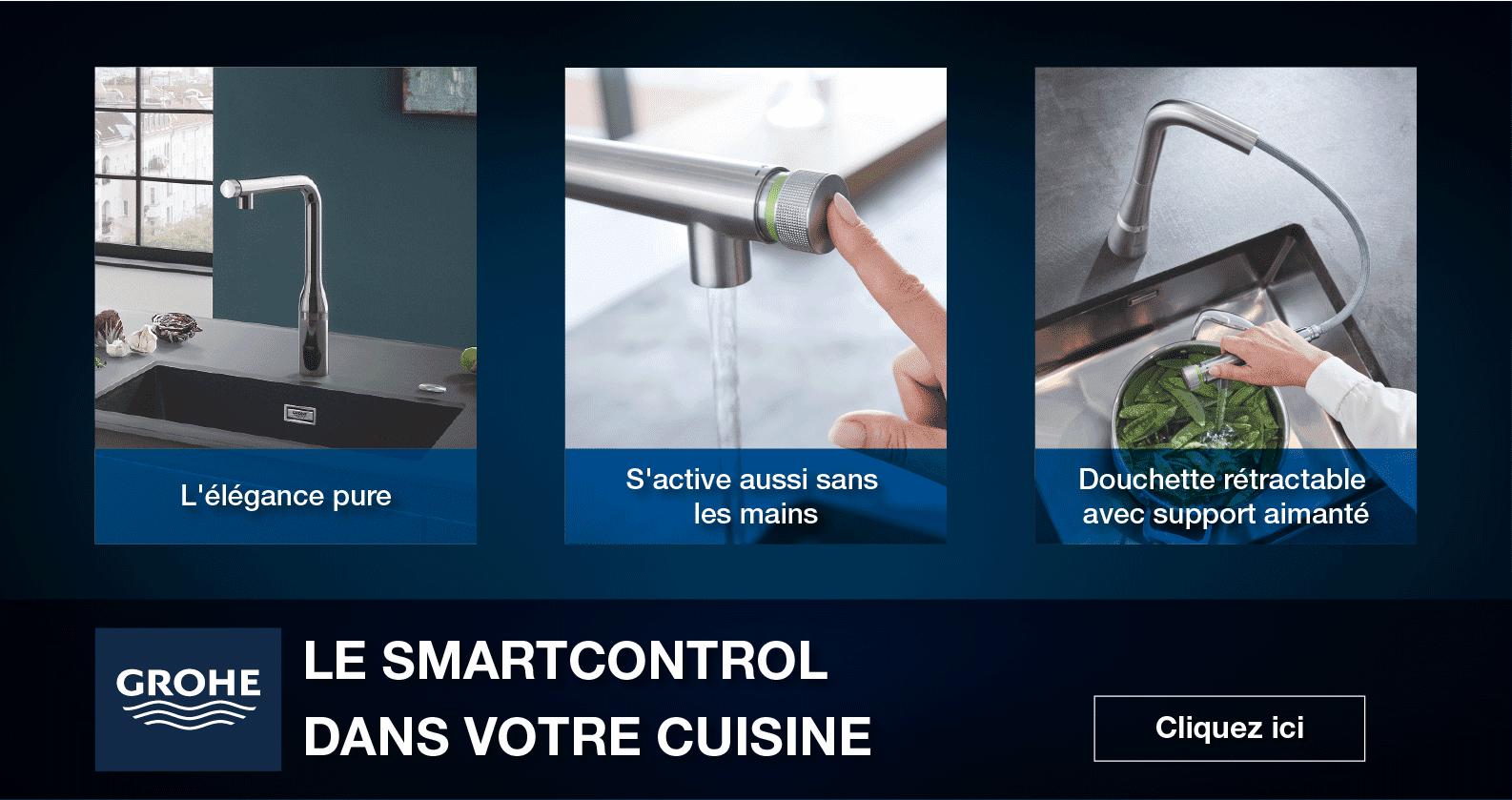 Mitigeurs de cuisine SmartControl GROHE chez xTWOstore
