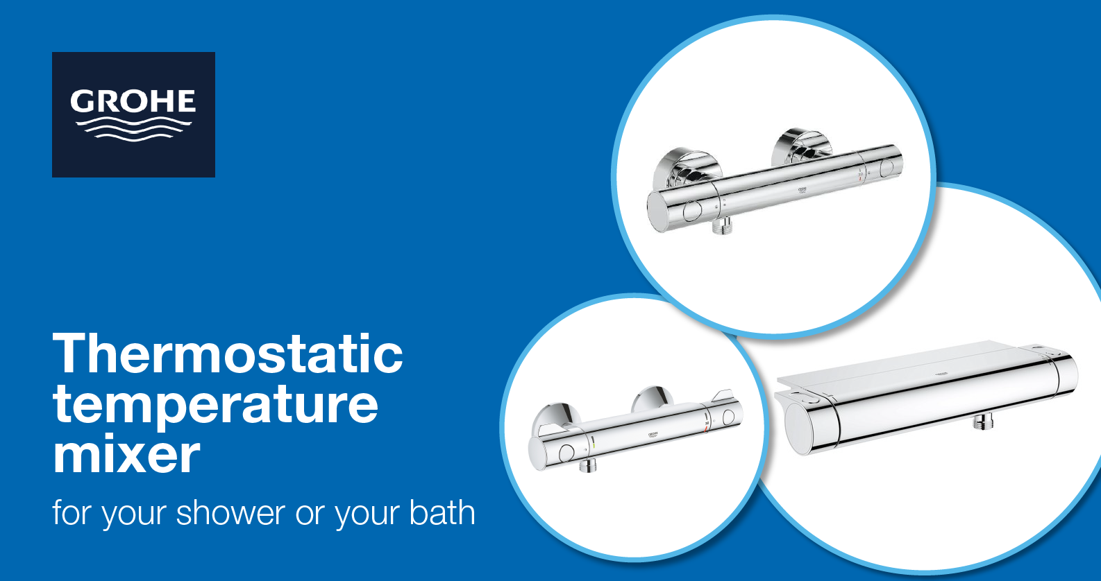 GROHE thermostatic mixers for shower and bathtub at xTWOstore
