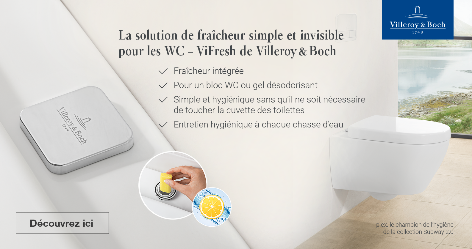 Villeroy & Boch Hygiene Champion chez xTWOstore