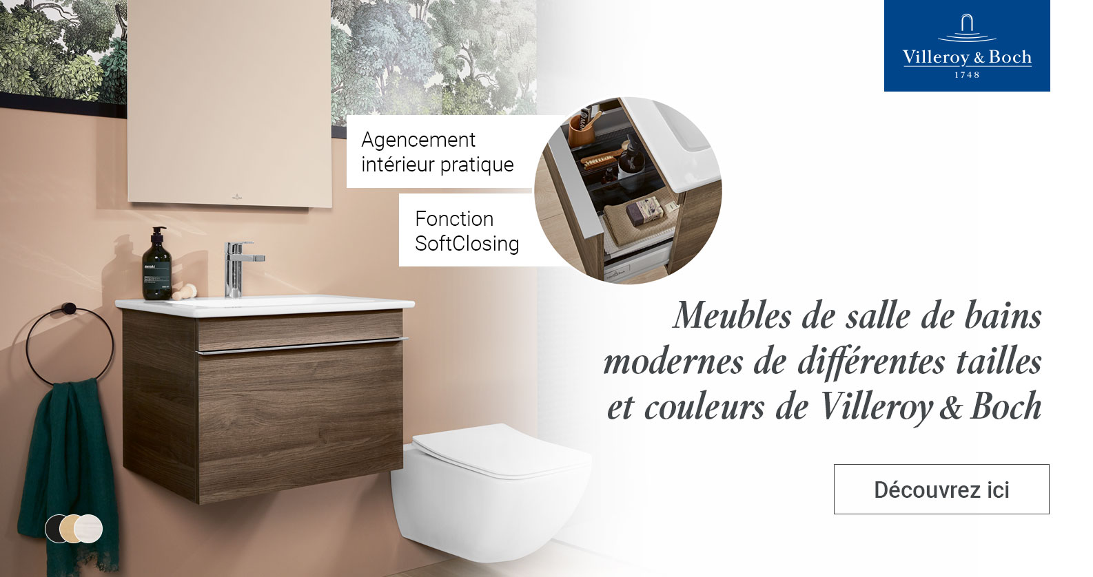 Meubles de salle de bains Villeroy & Boch chez xTWOstore