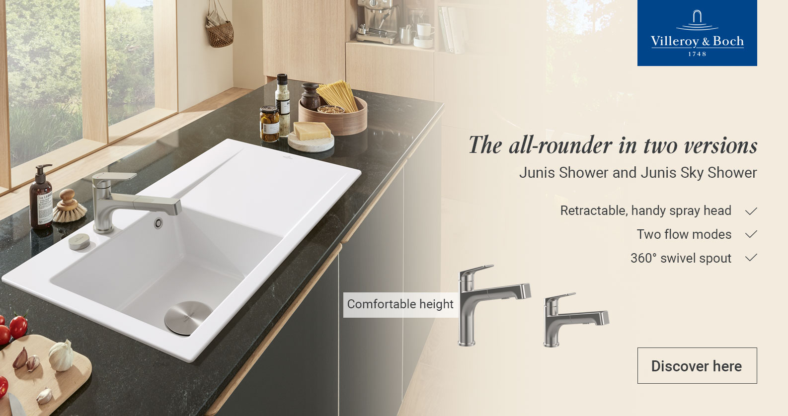 Discover Villeroy & Boch Kitchen Taps at xTWOstore