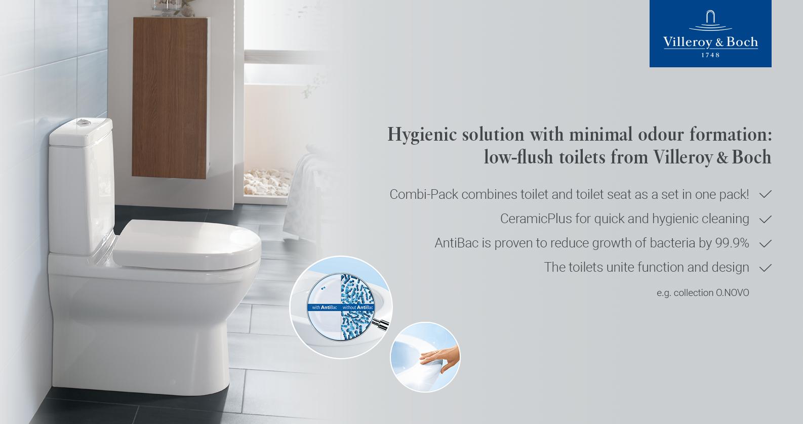 Villeroy & Boch O.Novo Toilets at xTWOstore