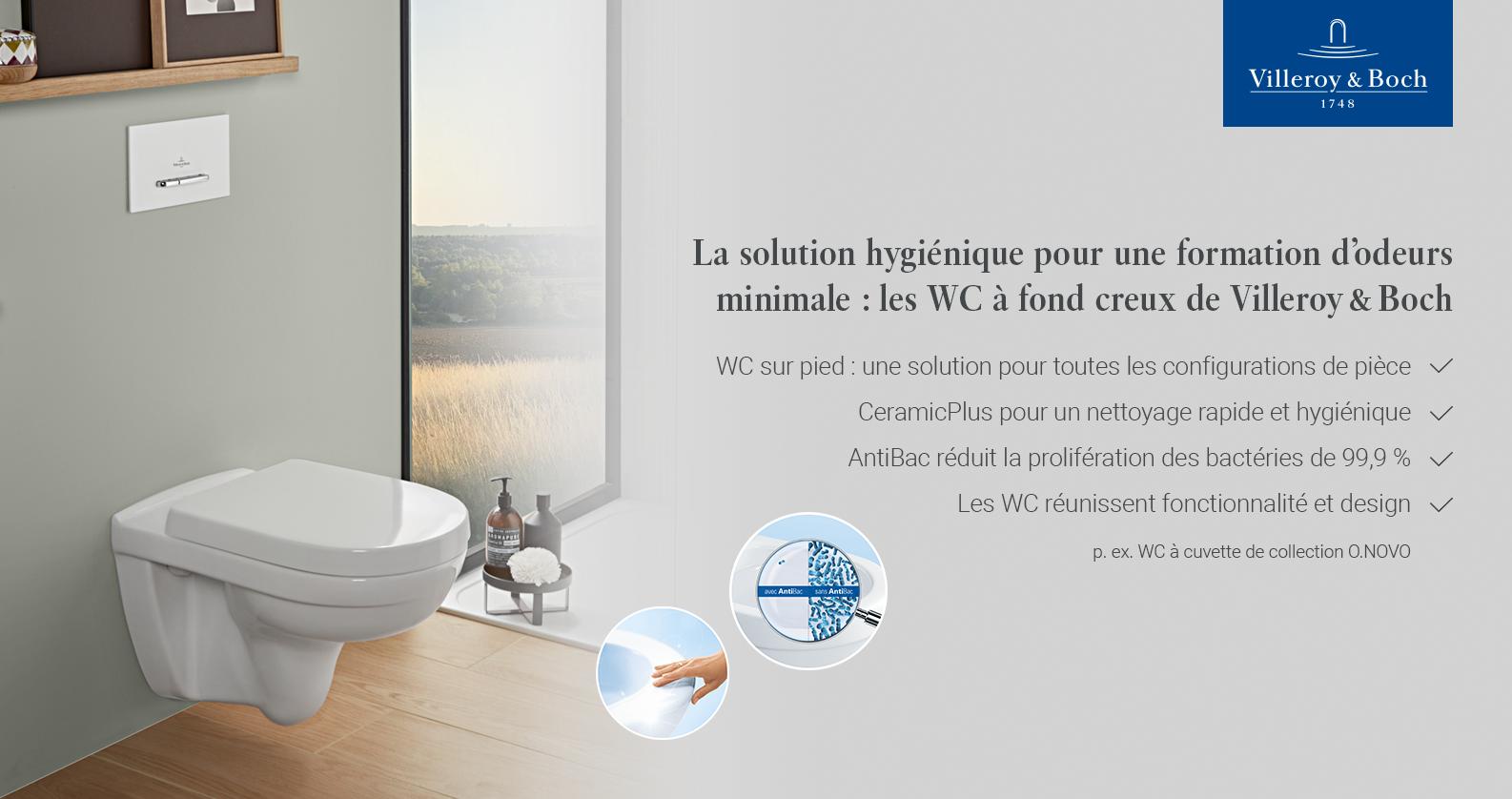 Villeroy & Boch O.Novo WCs chez xTWOstore