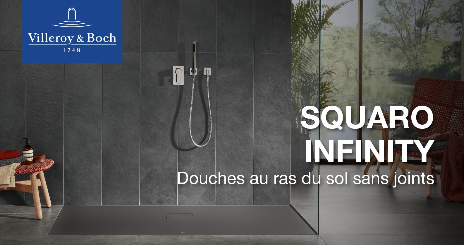 Villeroy & Boch Squaro Infinity Receveur de douche