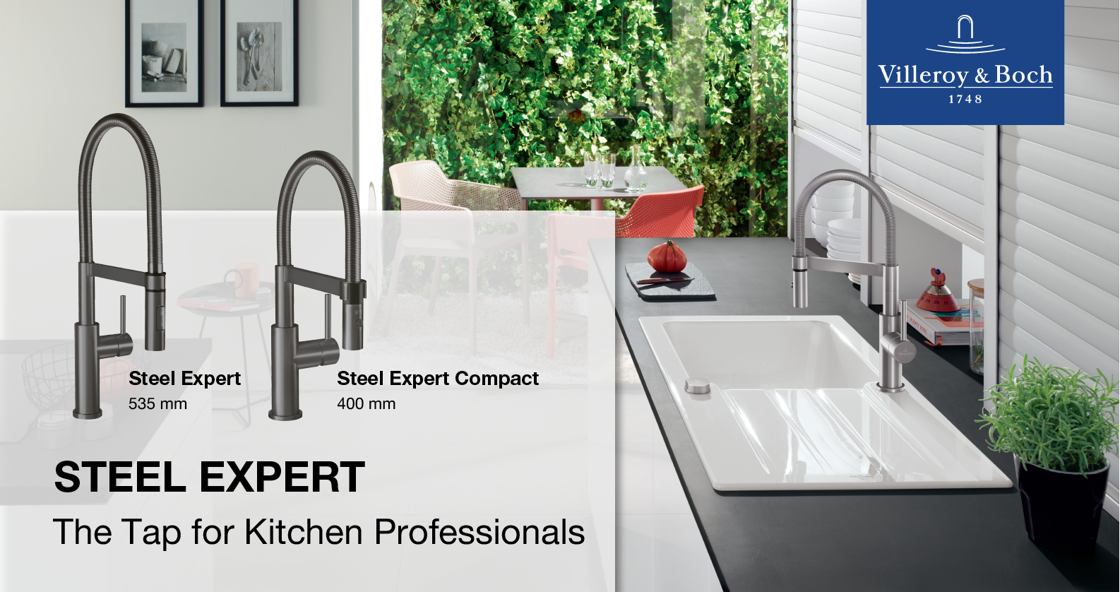Villeroy & Boch Steel Expert Kitchen Taps at xTWOstore