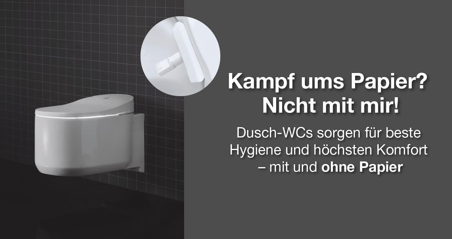 Dusch-WCs bei xTWOstore - Funktionieren auch ohne Papier