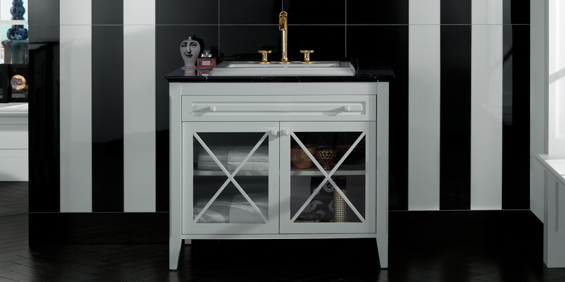 Hommage Villeroy & Boch - White lacquered vanity unit for built-in washbasin at xTWOstore