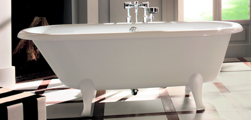 Hommage de Villeroy & Boch - Freestanding Bathtub with white feet at xTWOstore