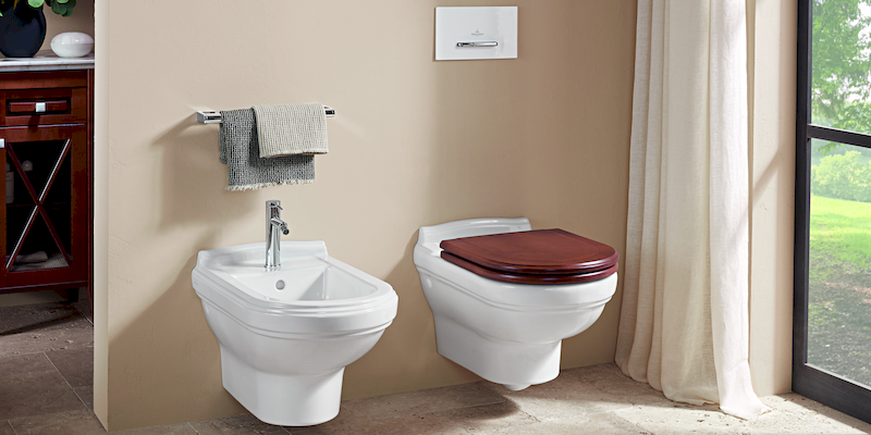Hommage de Villeroy & Boch - Hanging Bidet and WC at xTWOstore