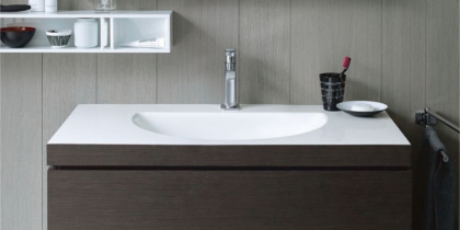 Duravit Darling New Washbasin with Vanity Unit c-bonded at xTWOstore