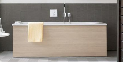 Duravit Darling New Built-in Bath with Wooden Cladding at xTWOstore