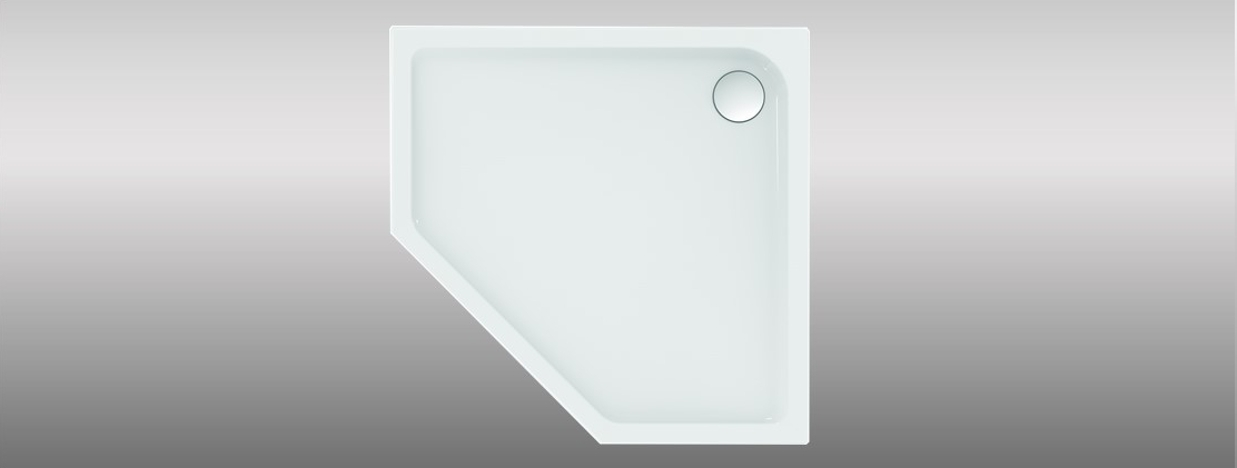 Pentagonal shower trays
