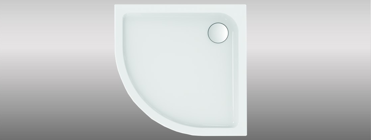 Quadrant shaped shower trays