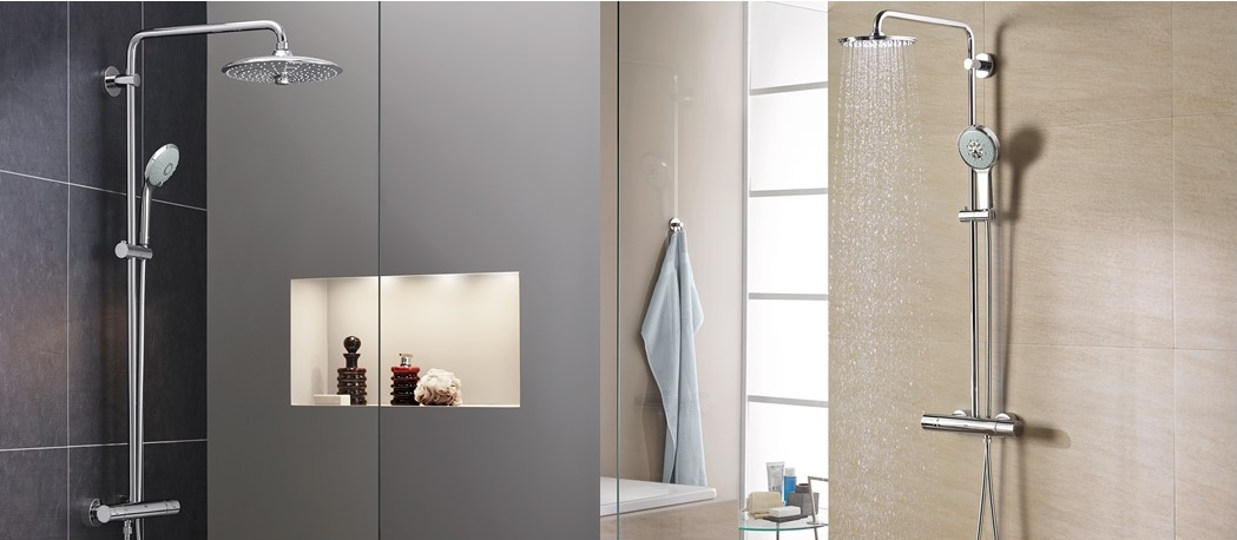 Grohe exposed shower systems