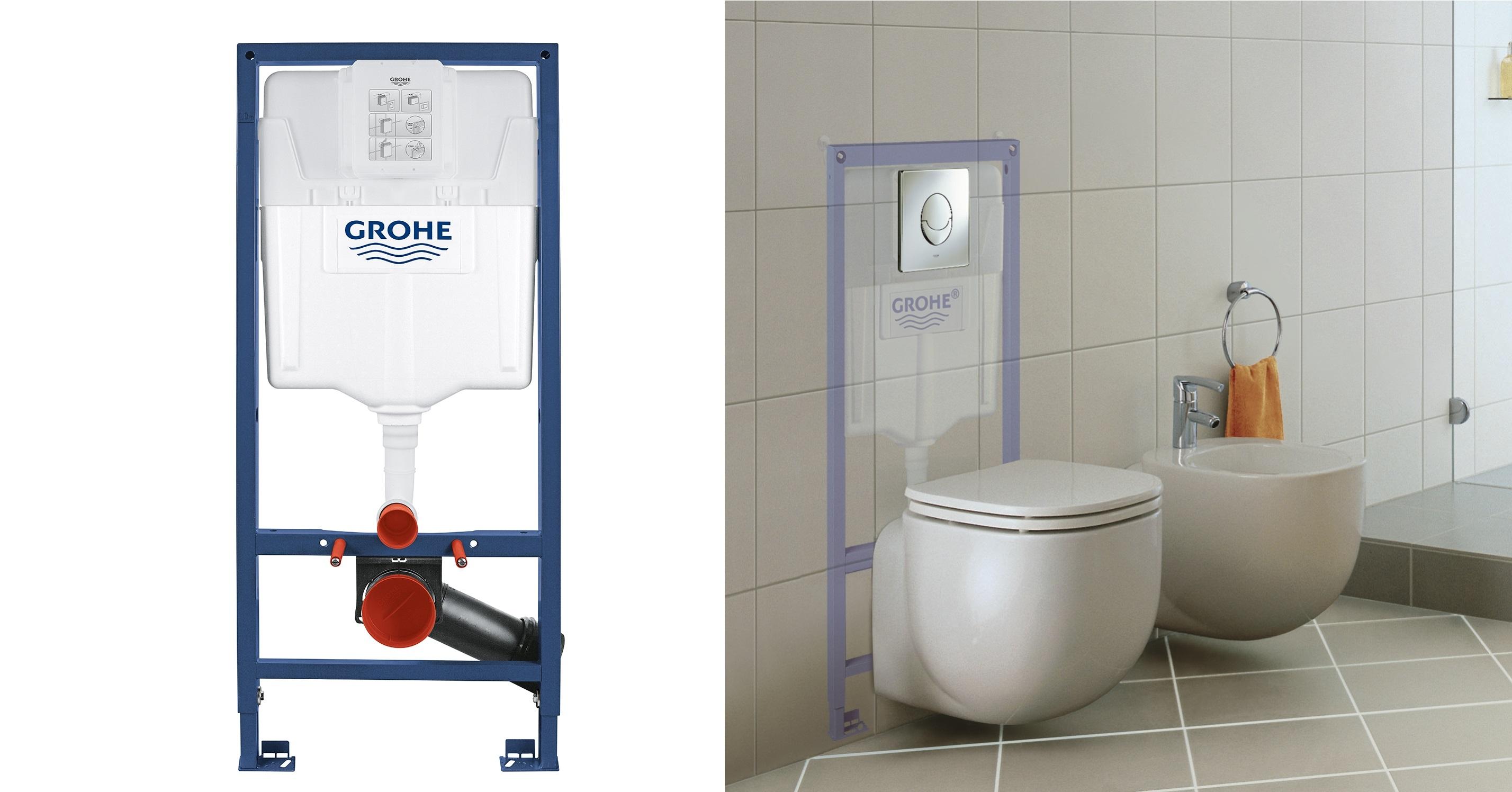 Vorwandelemente für WCs von GROHE