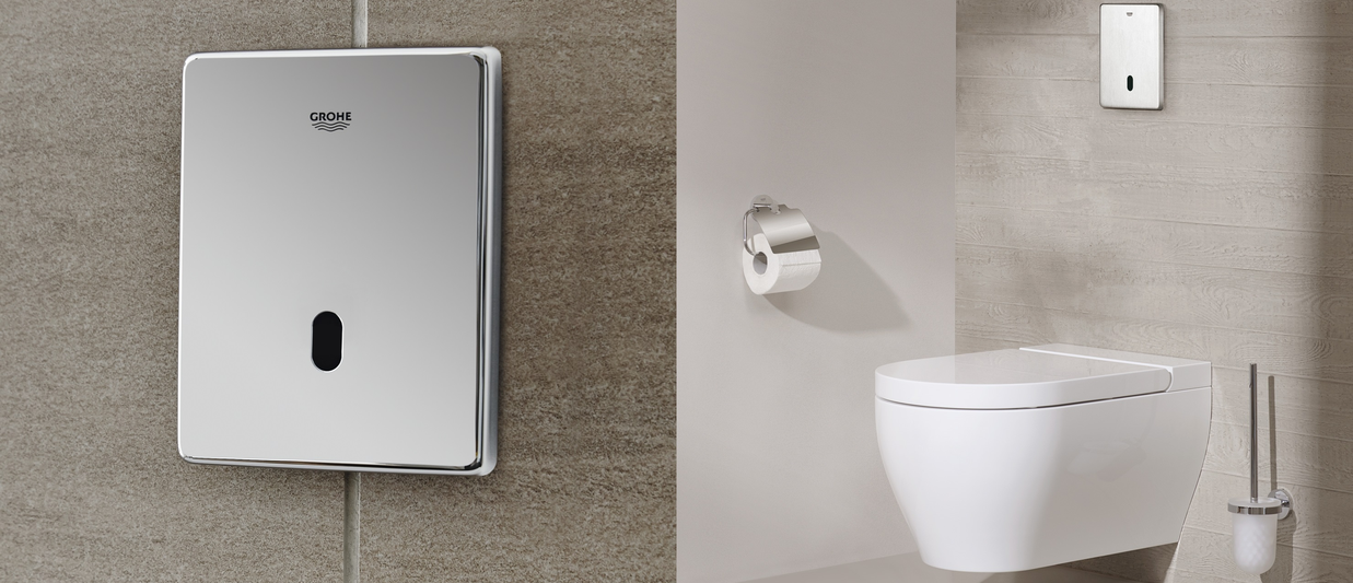 Electronic Flush Plates from GROHE