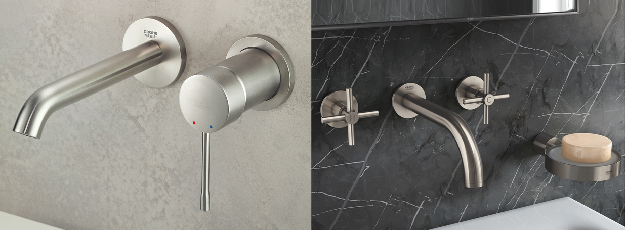 Wall-Mounted Basin Taps from GROHE